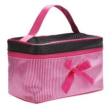 make up bags cosmetic bag women square bow striped make up case best gift s in cosmetic bags cases from luge bags on aliexpress alibaba