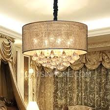 large drum chandelier shade with crystals