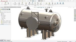 Solidworks Simulation Pressure Vessel Design Solidworks Tutorial Design Of Pressure Vessel Youtube