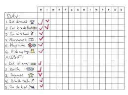 Daily Routine Printable Free Printable Kids Daily Routine Chart Atlaselevator Co
