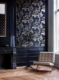 modern furniture pinterest.  Modern Beautiful Baroque Wallpaper And Modern Furniture In A Navy Blue Room The  Modern Victorian  And Pinterest R
