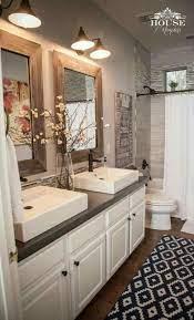 gorgeous farmhouse master bathroom