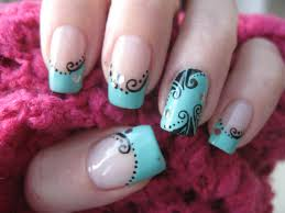 Decorative Nail Art Designs Nail art Nostalgic decorations on turquoise YouTube 6