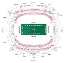 West Point Football Seating Chart M T Bank Stadium Diagrams Baltimore Ravens