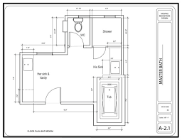 Ada bathroom with shower layout