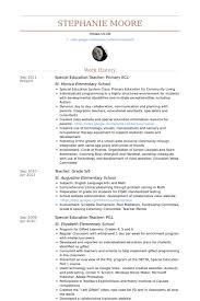 Resume Sample Resume For Special Education Teacher Best