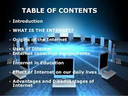expose anglais the internet