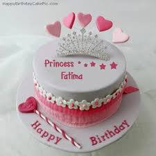 Birthday Cake Pictures With Name Fatima Delicious Cake Recipe