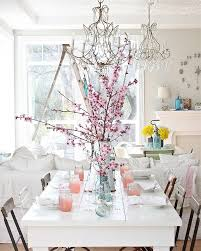 perfect use of shabby elements white and color in the dining room from