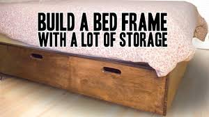 how to build a queen bed frame with a lot of storage
