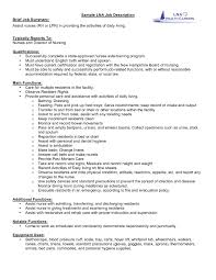 Cna Duties For Resume Resume Sample Cna Job Duties Resume Resume