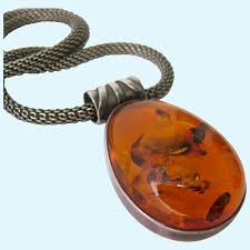 sterling silver 925 amber pendant