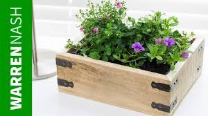 pallet planter box project plans design easy diy by warren nash