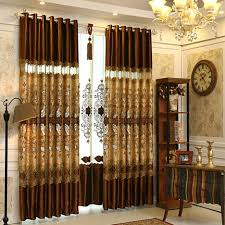 brown living room curtains along with luxury gold brown lace patterned living room curtains cmt10011 1