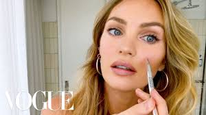 candice swanepoel s 10 minute guide to fake natural makeup and faux freckles beauty secrets