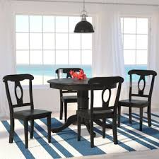 round dining room table and chairs. Gaskell 5 Piece Dining Set Round Room Table And Chairs D