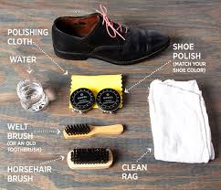 how to shine shoes materials