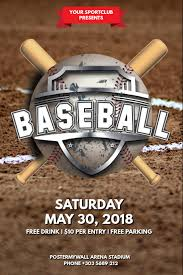 Free Baseball Flyer Template Customize 490 Baseball Templates Postermywall