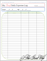 Keeping A Budget Worksheet The Good Wife New Budget Worksheet Daily Expense Log