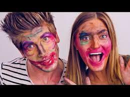 blindfold makeup challenge with ijustine