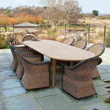 patio teak patio furniture costco patio furniture rustic wooden dining table in oblong shape