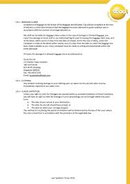 Delayed Baggage Compensation Letter Scoot Conditions Of Carriage Pdf