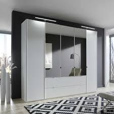 Schlafzimmer Kleiderschrank Mambo In Weiß Spiegel