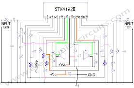 stk 4192 power amplifier electronic circuits stk4192 stereo power amplifier circuit diagram