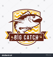Event Badge Template Fishing Badge Template Vintage Retro Badge Stock Vector Royalty