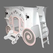 Cute White Cinderella Carriage Levels Princess Bed With Stairs As Well As  Antique Wall Lights As Inspiring Baby Girls Bedding Designs Ideas