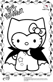Hello Kitty Halloween Coloring Pages - GetColoringPages.com