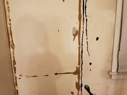 removing thick adhesive from plaster walls