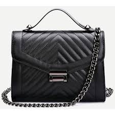 Black Quilted Envelope Bag With Chain ❤ liked on Polyvore ... & Black Quilted Envelope Bag With Chain ❤ liked on Polyvore featuring bags,  handbags, bolsas Adamdwight.com