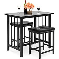 best choice s kitchen marble table dining set w 2 counter height stools black