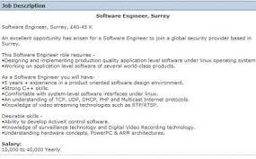 Software Engineer Cv Example The Cv Store Blog