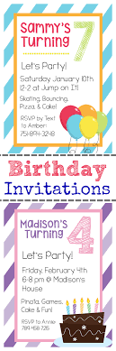 printable birthday invitation templates printable birthday invitations and instructions on how to personalize them