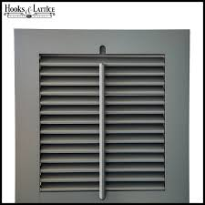operable louvered shutters to enlarge