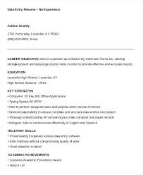 Data Entry Resume Objective Resume Web