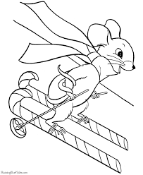 Small Picture Christmas coloring pages Candy cane skis