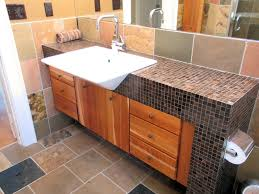 slate bathroom countertops