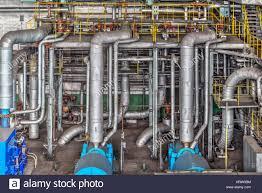 electric generator power plant. Machine Room In Thermal Power Plant With Electric Generators And Turbines Generator