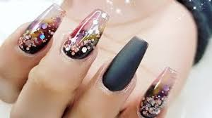 Pinta las uñas de los pies de la princesa a. Black Nail Art Designs Full Set Paso A Paso Unas Acrilicas Negras Youtube