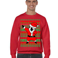 Dabbing santa ugly christmas sweater men sweatshirt from allntrendshop