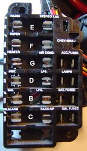hot rods neat little fuse panel for your hotrod page the 1966 gm mid size