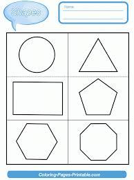 Kindergarten Free Printable Shapes Worksheets For Kindergarten ...