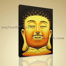 Buddha Head Decor Feng Shui Painting Abstract Buddha Head Stately Home Decor Wall