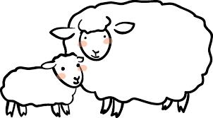 年賀素材館年賀状イラスト素材未ひつじ羊の親子2ダウンロード