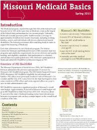 Missouri Medicaid Eligibility Chart Missouri Medicaid Basics Pdf