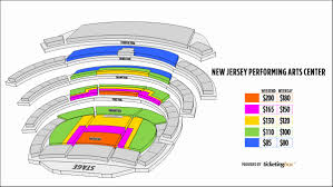 Nj Pac Seating Chart 77 Meticulous Prudential Center Chart
