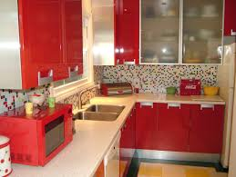 Red Kitchen Increasing Passion Of Cooking Through Red Kitchen Hort Decor